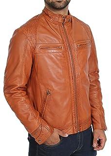 Lasumisura Mens Black Genuine Lambskin Leather Jacket 1510497
