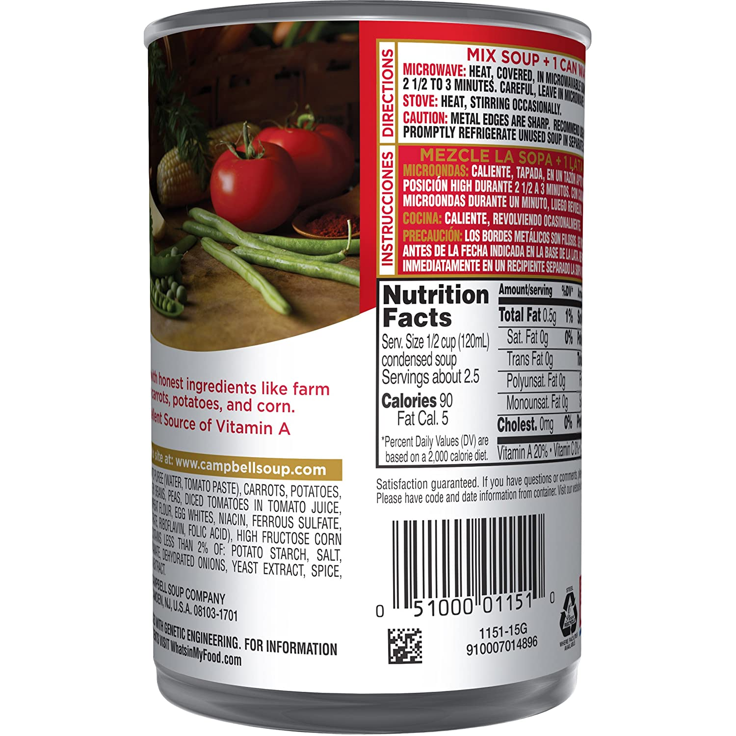 Amazon.com : Campbell\'s Condensed Soup, Vegetarian Vegetable, 10.5 ...