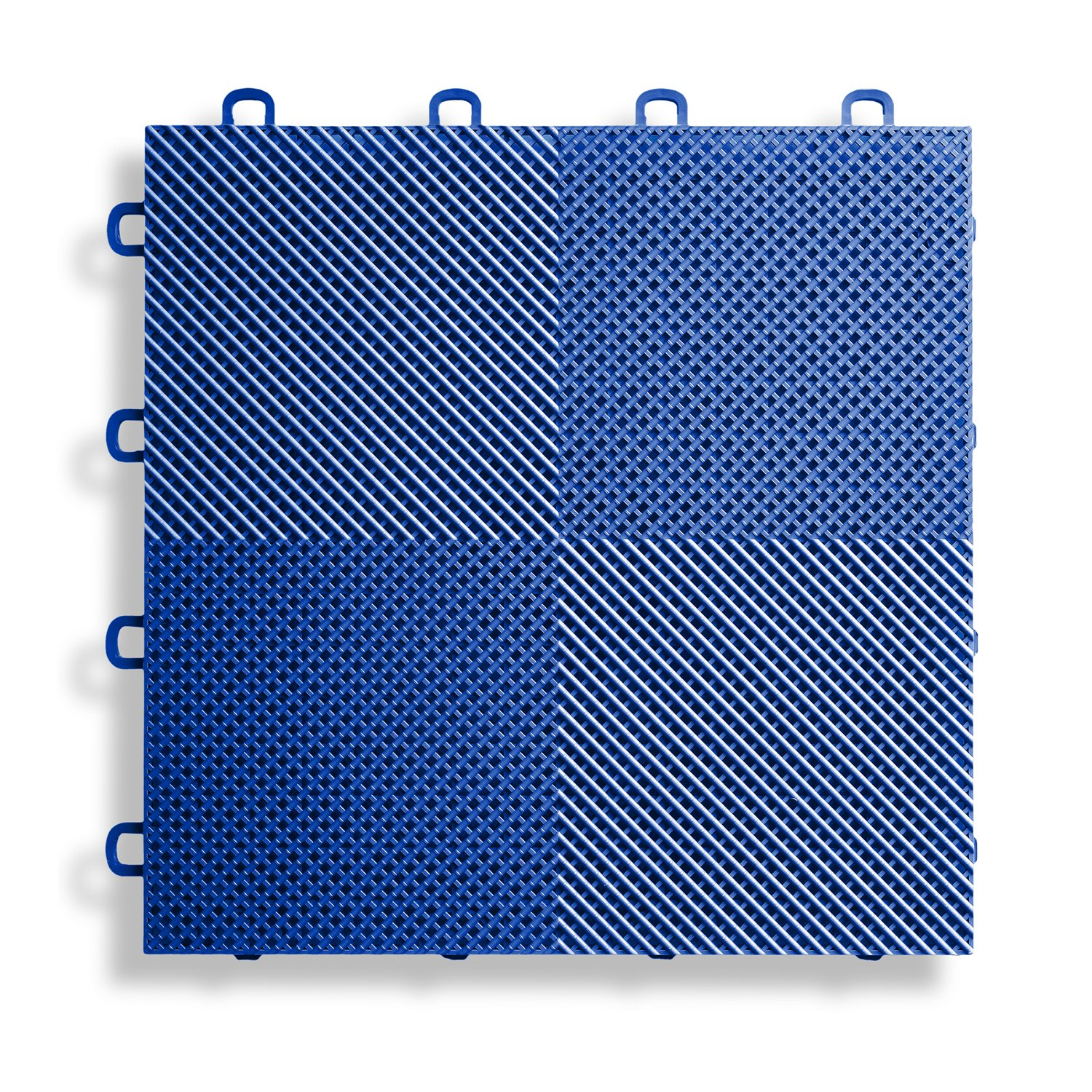 BlockTile B2US4530 Deck and Patio Flooring Interlocking Tiles Perforated Pack, Blue, 30-Pack