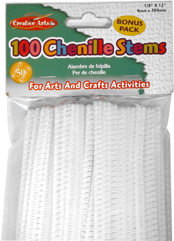 Red 100//Bag 4 Mm x 12 Inch 65430 Charles Leonard Chenille Stems