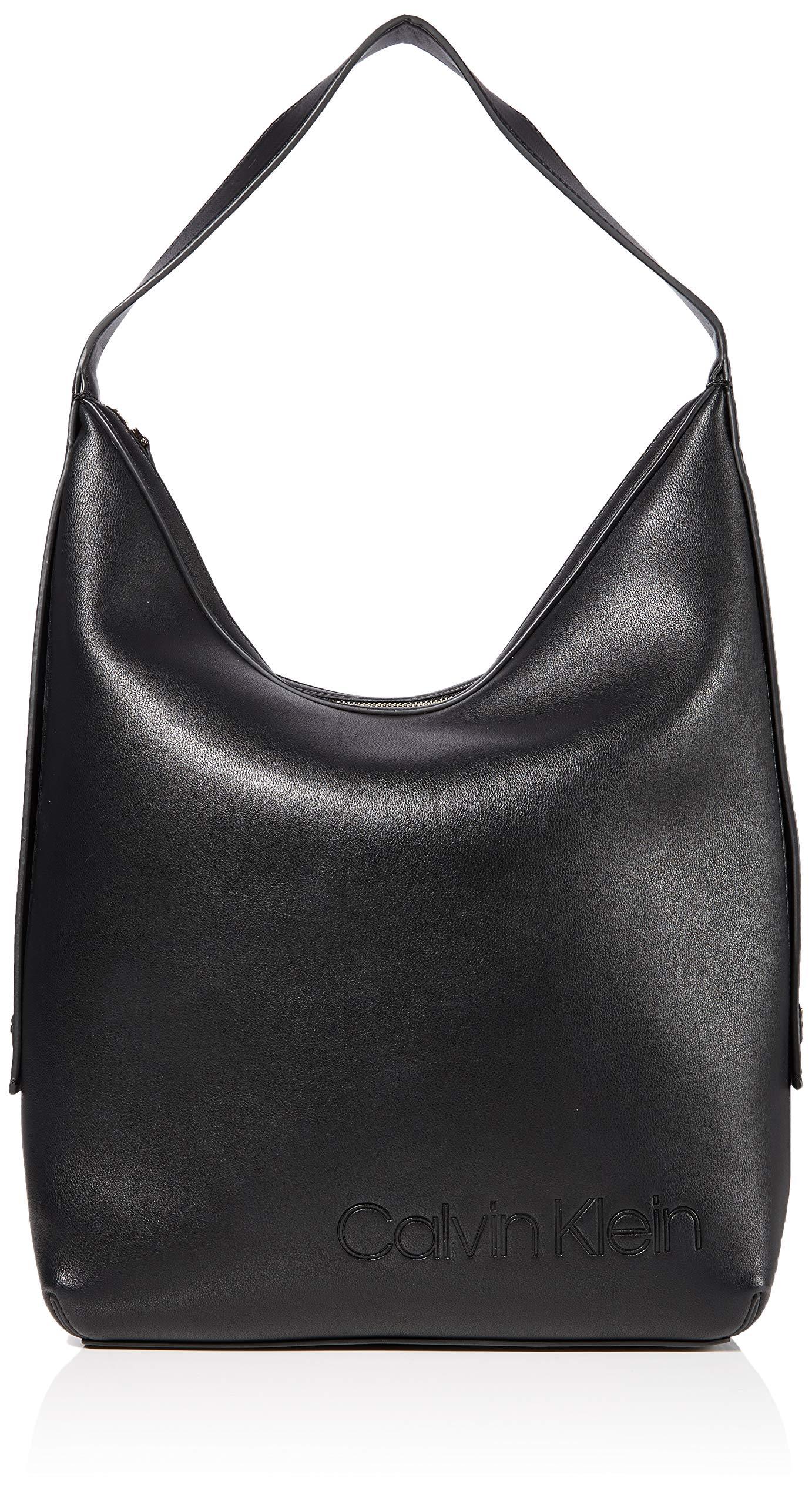Calvin Klein ATTACHED HOBOMujerBolsos bandoleraNegro (Black) 15x42x43 centimeters (B x H x T)