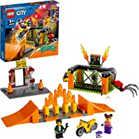 LEGO 60293 City Stuntz Stuntpark Show Bouwset met Motor met Vliegwielaandrijving, Schansen, Spinnenkooi en Racer…