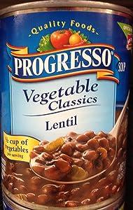Progresso Vegetable Classics Lentil Soup 19oz Can (Pack of 5)