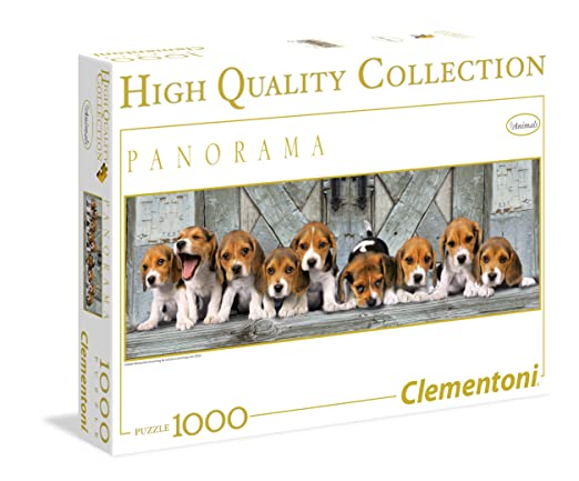 136 opinioni per Clementoni Puzzle 39076- Beagles - 1000 pezzi High Quality Collection Panorama