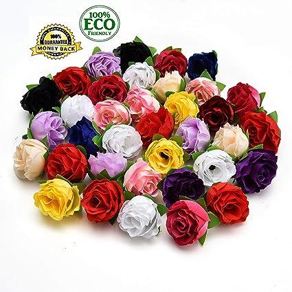 Amazon Silk Flowers In Bulk Wholesale Fake Flowers Heads Diy