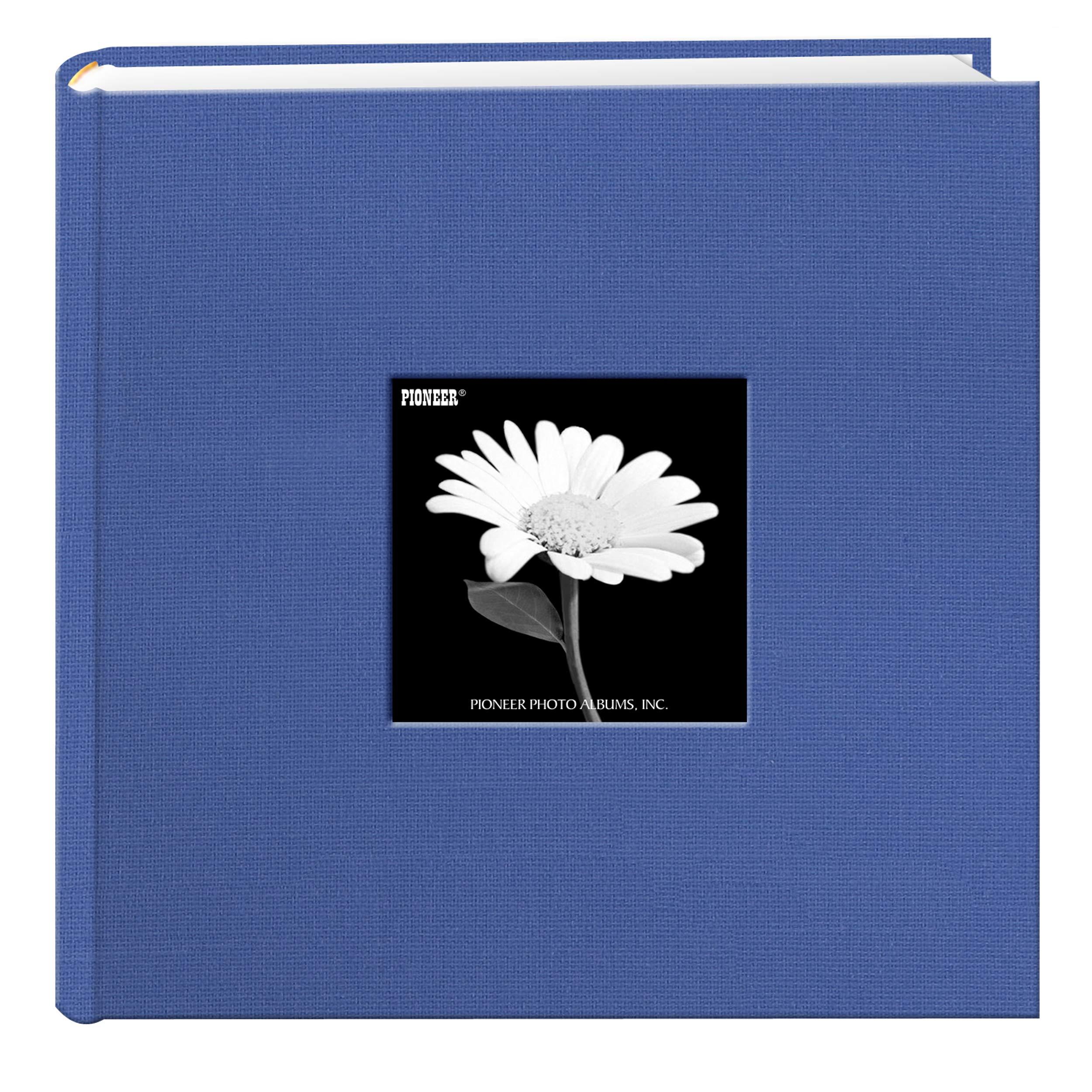 Fabric Frame Cover Photo Album 200 Pockets Hold 4x6 Photos, Sky Blue by Pioneer Photo Albums