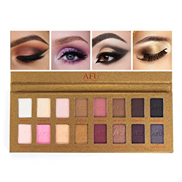 AFU Deluxe Eyeshadow Palette Matte + Shimmer 16 Colors Makeup Highly  Pigmented Professional Natural Bronze Neutral 1f26af0b1aa3