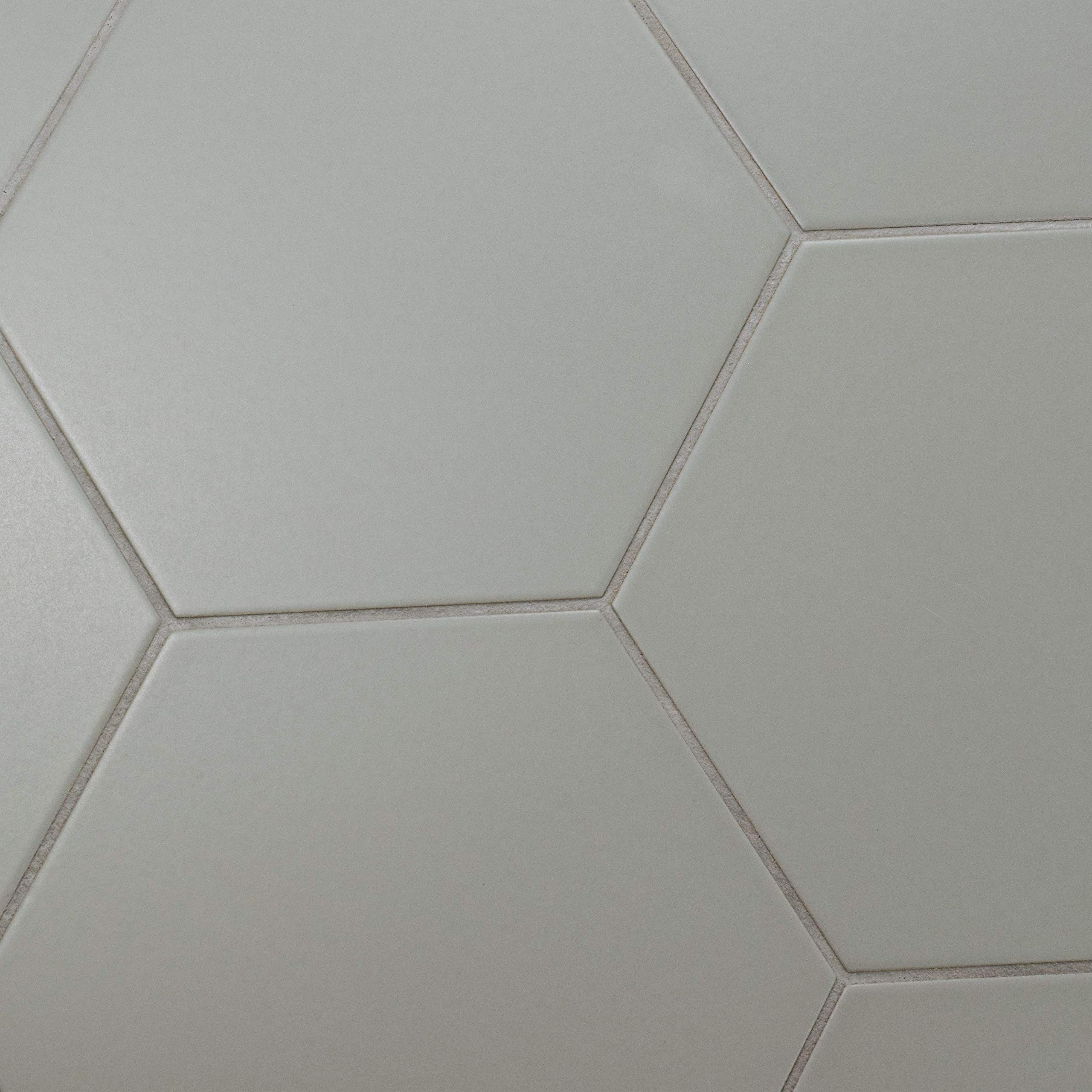 SomerTile FCD10STX Abrique Hex Porcelain Floor and Wall, 8.63'' x 9.88'', Silver Tile 8.625'' x 9.875'' 25 Piece by SOMERTILE (Image #4)