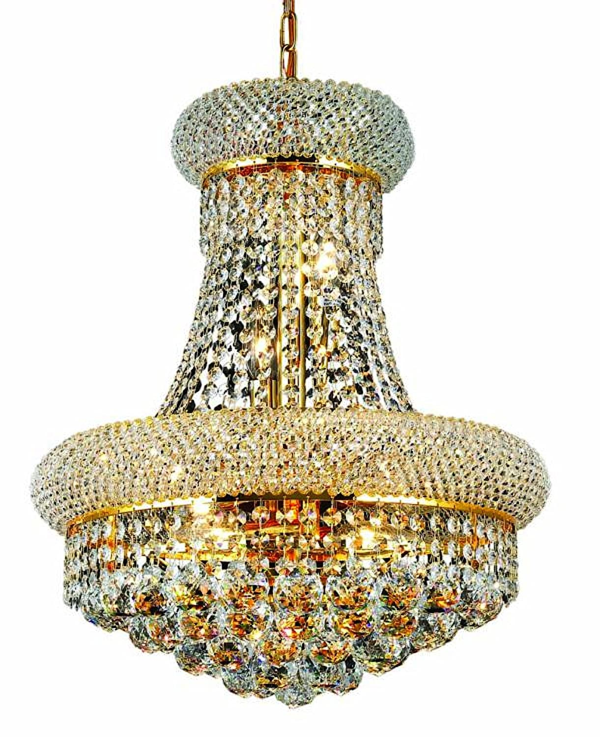 Elegant lighting 1800d16grc primo 20 inch high 8 light chandelier elegant lighting 1800d16grc primo 20 inch high 8 light chandelier gold finish with crystal clear royal cut rc crystal amazon mozeypictures Gallery