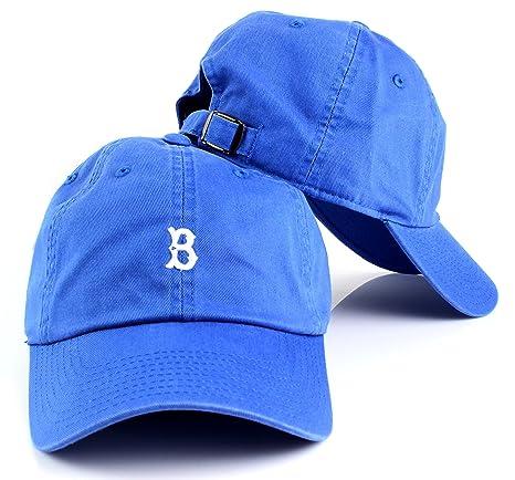 American Needle MLB Micro Team Logo Slouch Adjustable Dad Hat (Brooklyn  Dodgers) 881055baabc