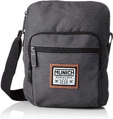 Munich Crossbody, Bolso bandolera para Hombre, Negro (Black), 7.0x29.0x22.0 cm (W x H x L)