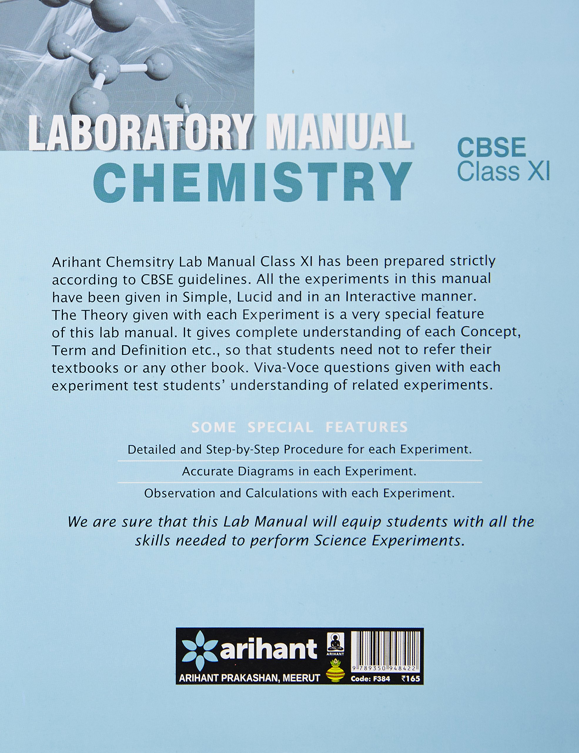 Cbse laboratory manual chemistry class 11th experimentsprojects cbse laboratory manual chemistry class 11th experimentsprojectsviva voce amazon arihant experts books fandeluxe Images