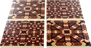 product image for Set of 4 Wooden Coasters - Adapted From Unique Woodworking Patterns By Mitercraft,Set 4