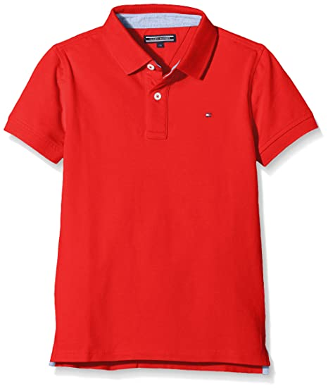 Tommy Hilfiger Ame Tommy Polo S/s, Rojo (Flame Scarlet 610), 104 ...