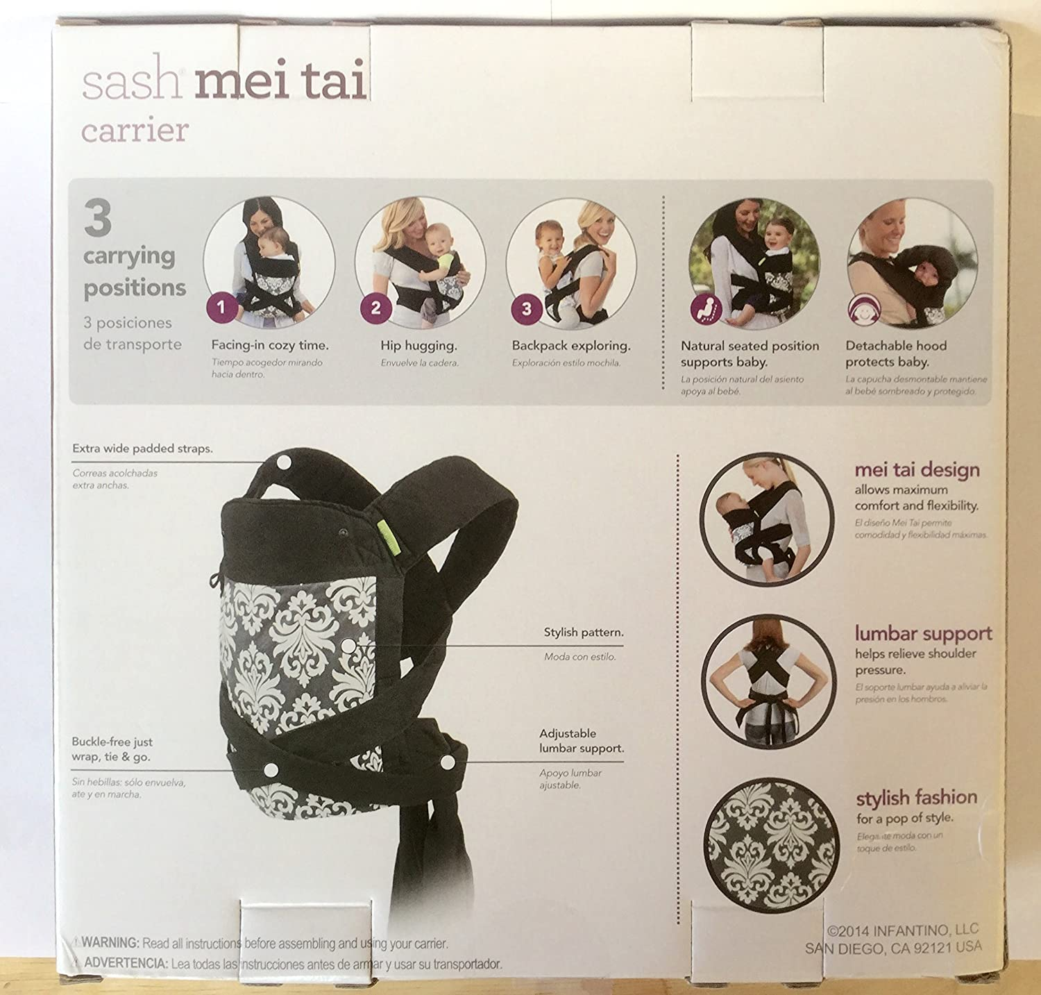 Amazon.com : 3 Carrying Positions Baby Carrier Detachable Hood Included : Baby