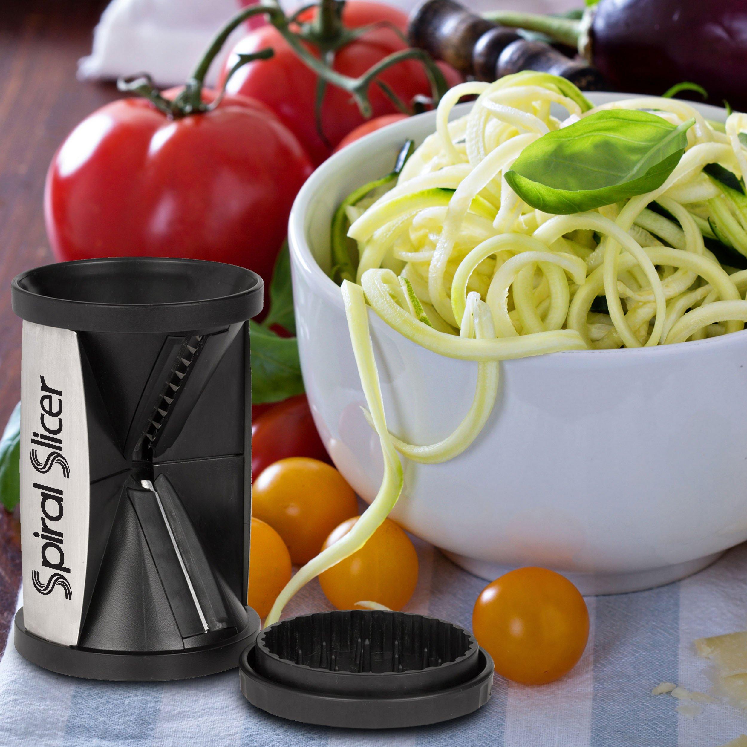 Spiral Slicer Vegetable Zoodle Spiralizer - Veggie Noodle Maker Pasta Cutter - With Kitchen Peeler Bundle
