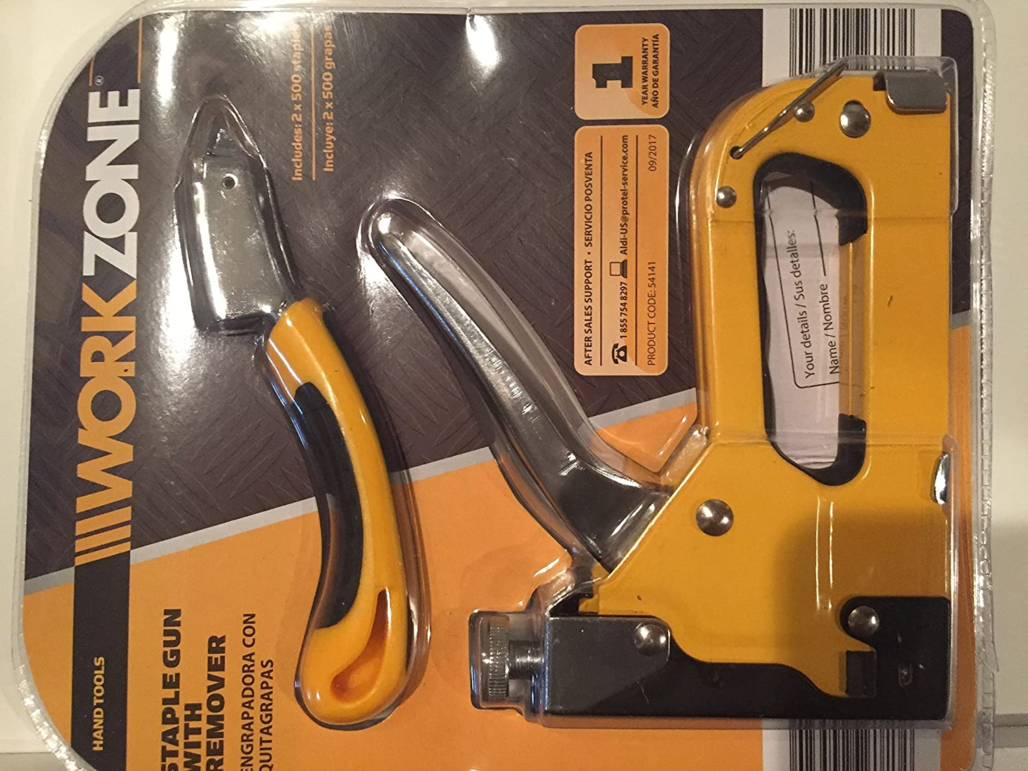 Stable Gun with Staple Remover Workzone
