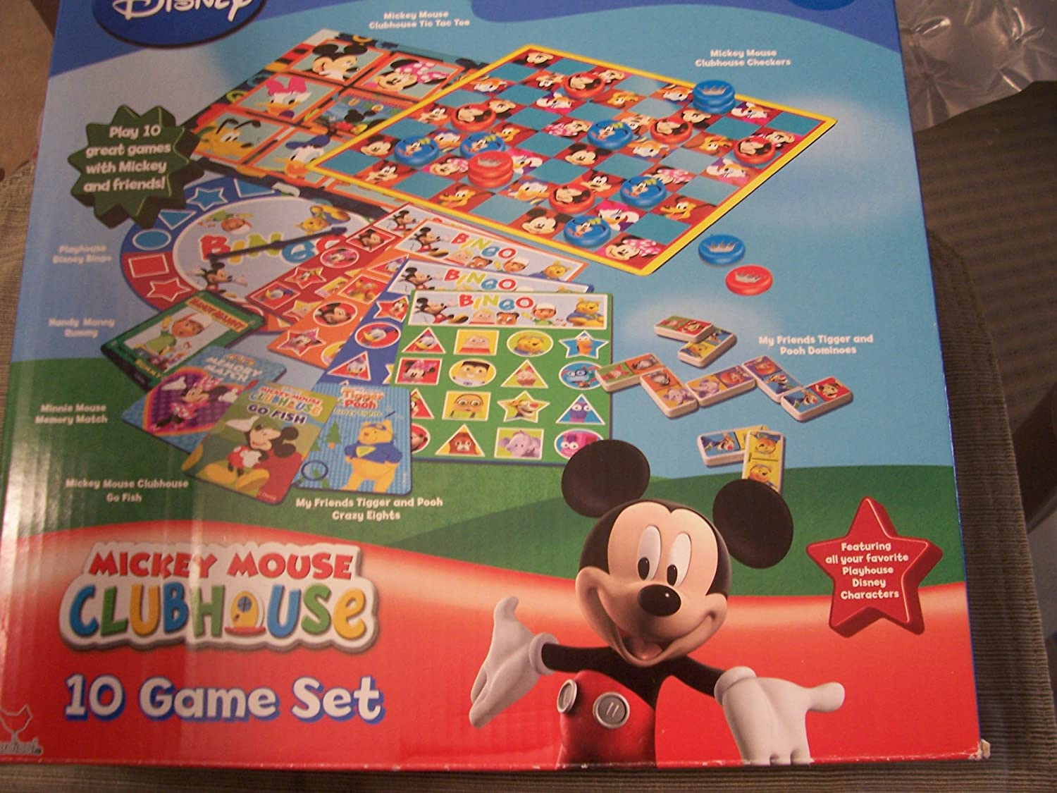 Disney Mini Matching Memory Card Game Handy Manny Mickey Mouse Pooh Party Favors