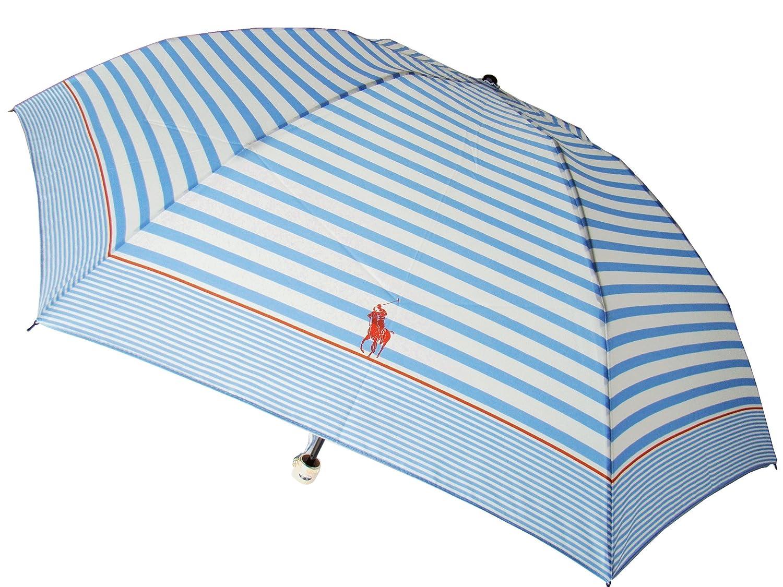 (ポロ ラルフローレン)POLO RALPH LAUREN ポニー 軽量グラス骨 折りたたみ 雨傘 ブルー B00FQD2RTS