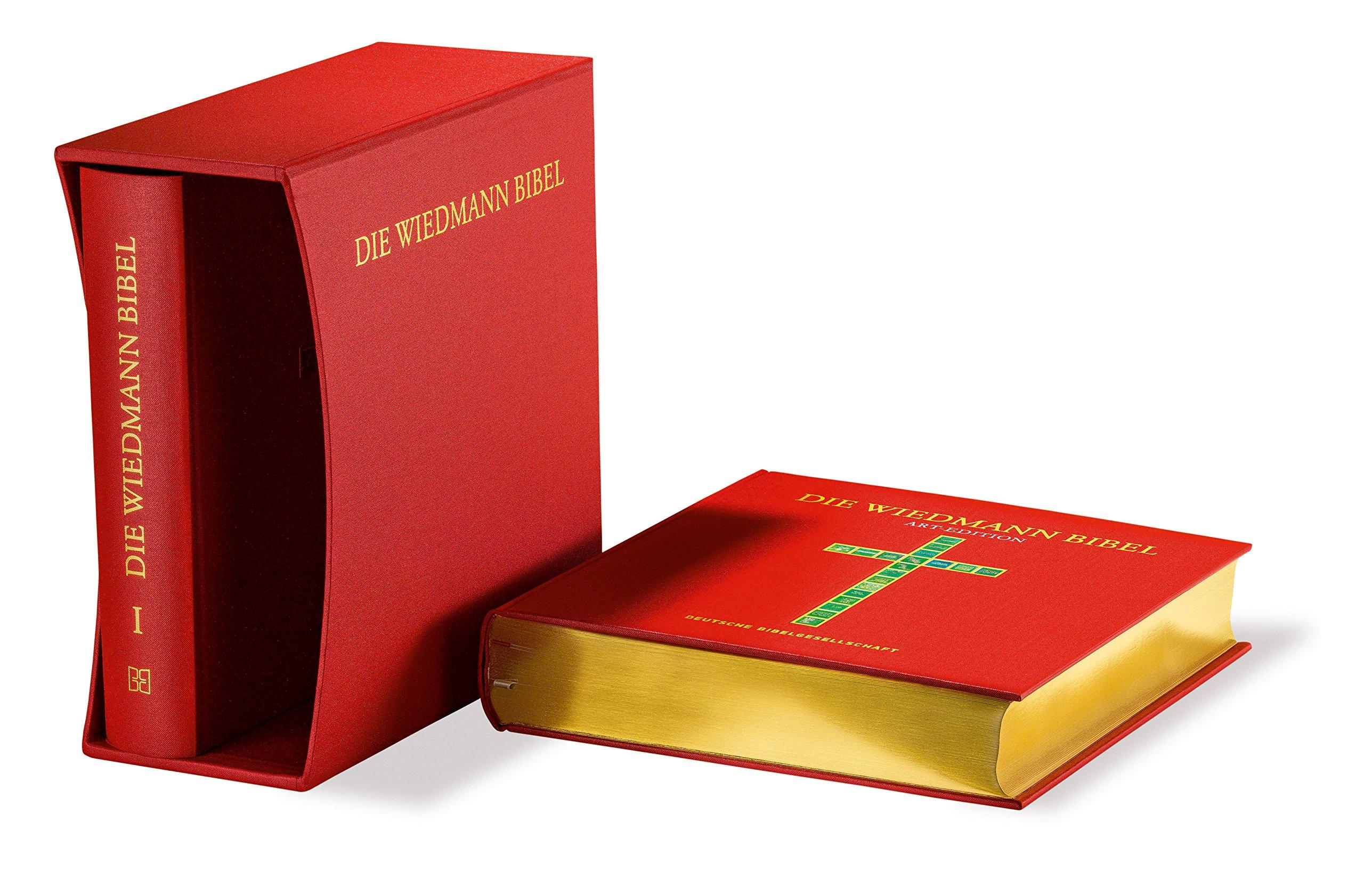 Die Wiedmann Bibel - Art-Edition: Zwei Bände im Schmuckschuber mit Bildern von Willy Wiedmann und Texten der Lutherbibel 2017 sowie ein Ergänzungsband mit Informationen zum Künstler und zu seinem Werk