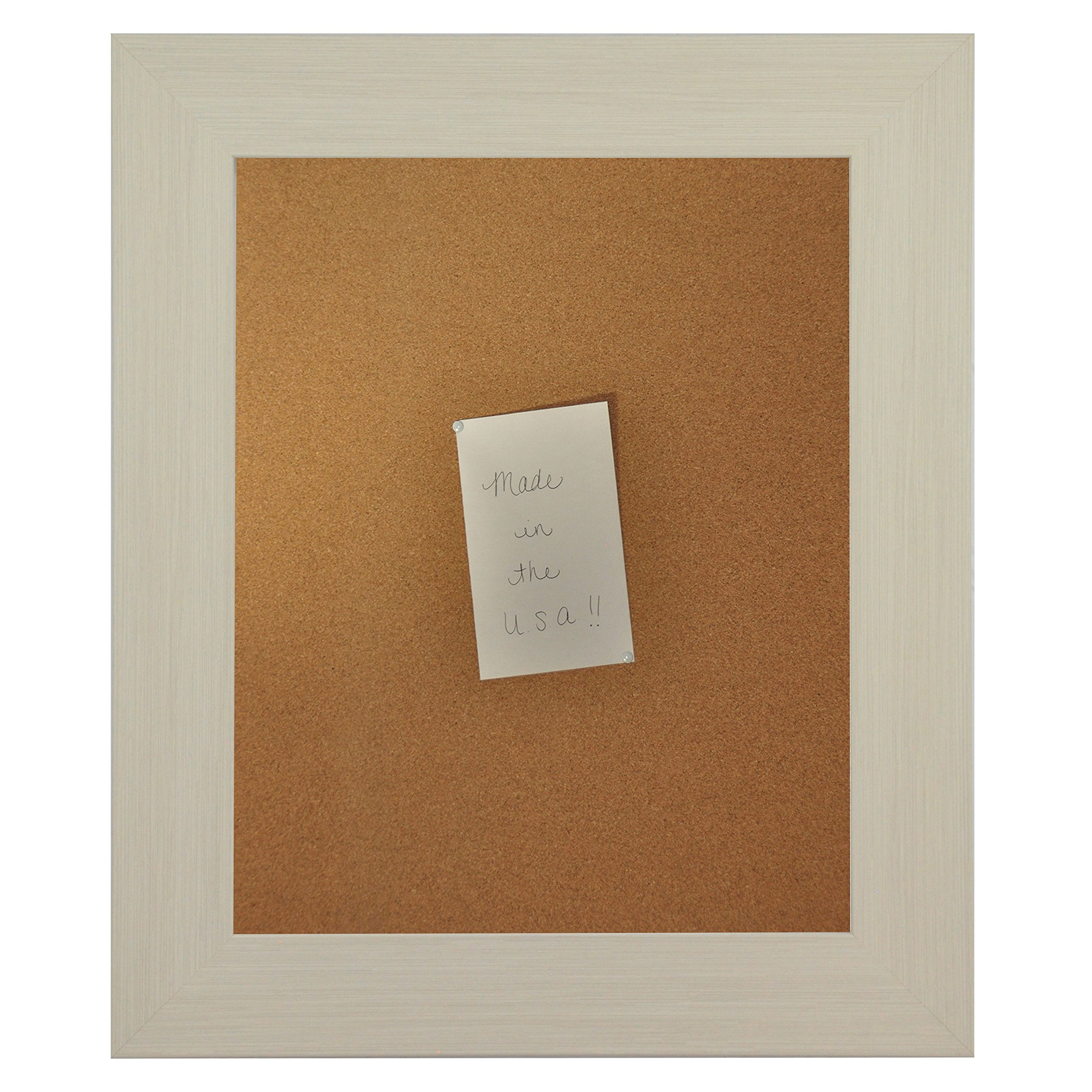 Rayne Mirrors American Made Rayne Arctic Ivory Corkboard Exterior Size: 18 x 24 by Rayne Mirrors