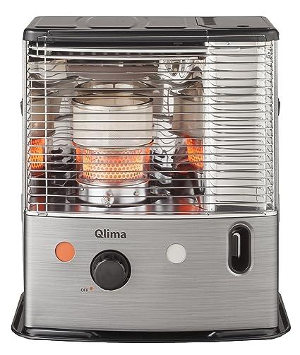 Qlima R8224C estufa de petróleo 2400 W, negro y aluminio