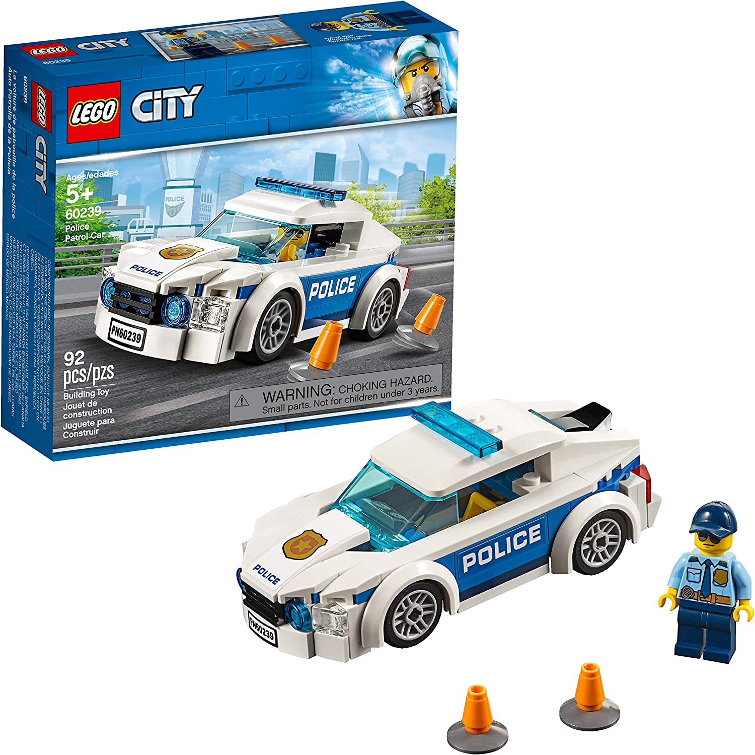 LEGO City Police Patrol Car 60239 Building Kit, 2019 (92 Pieces)