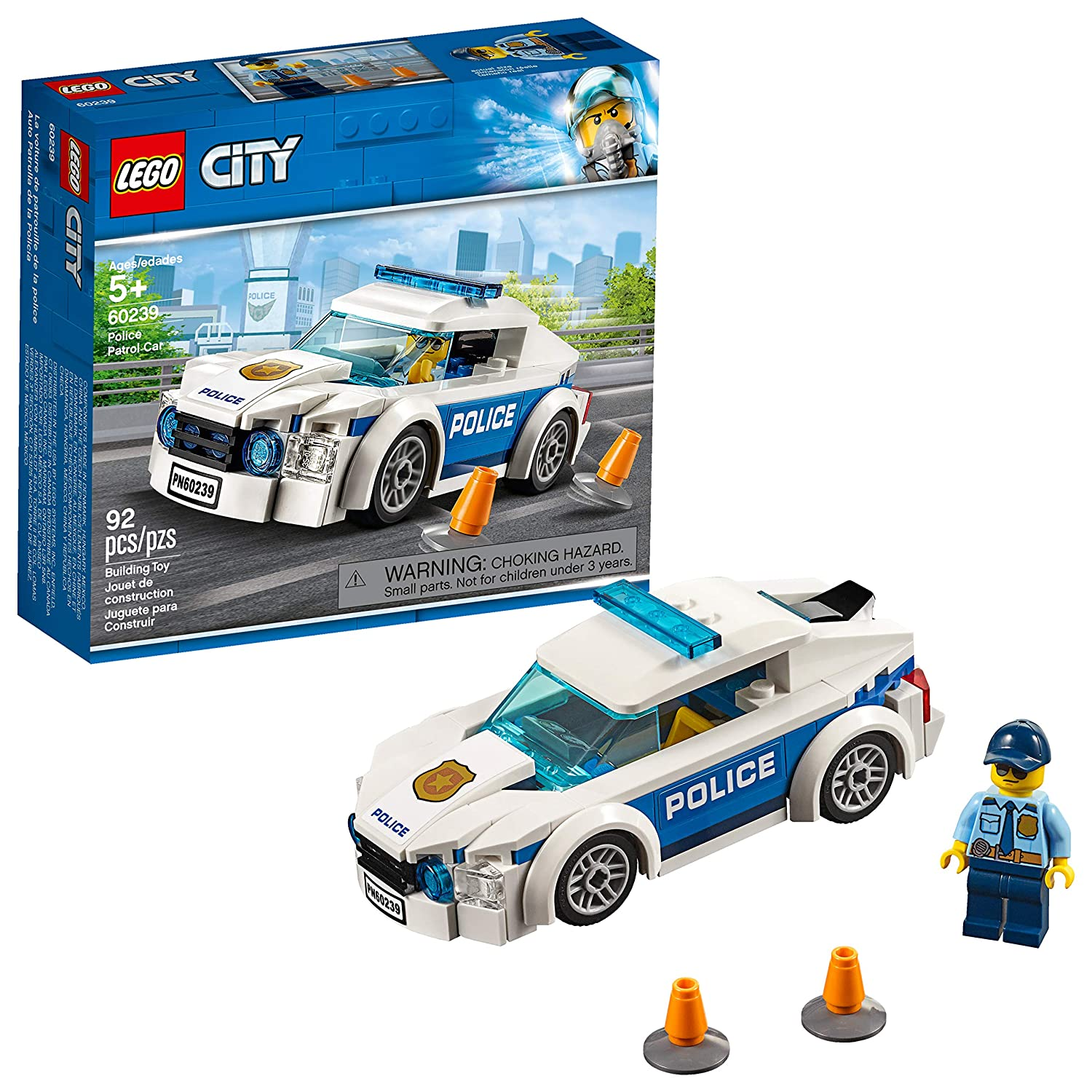 Amazon LEGO City Police Patrol Car 60239 Building Kit New 2019 92 Piece Toys Games
