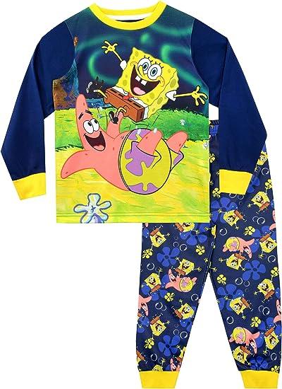 Bob Esponja Pijamas de Manga Larga para niños Sponge Bob Squarepants: Amazon.es: Ropa y accesorios