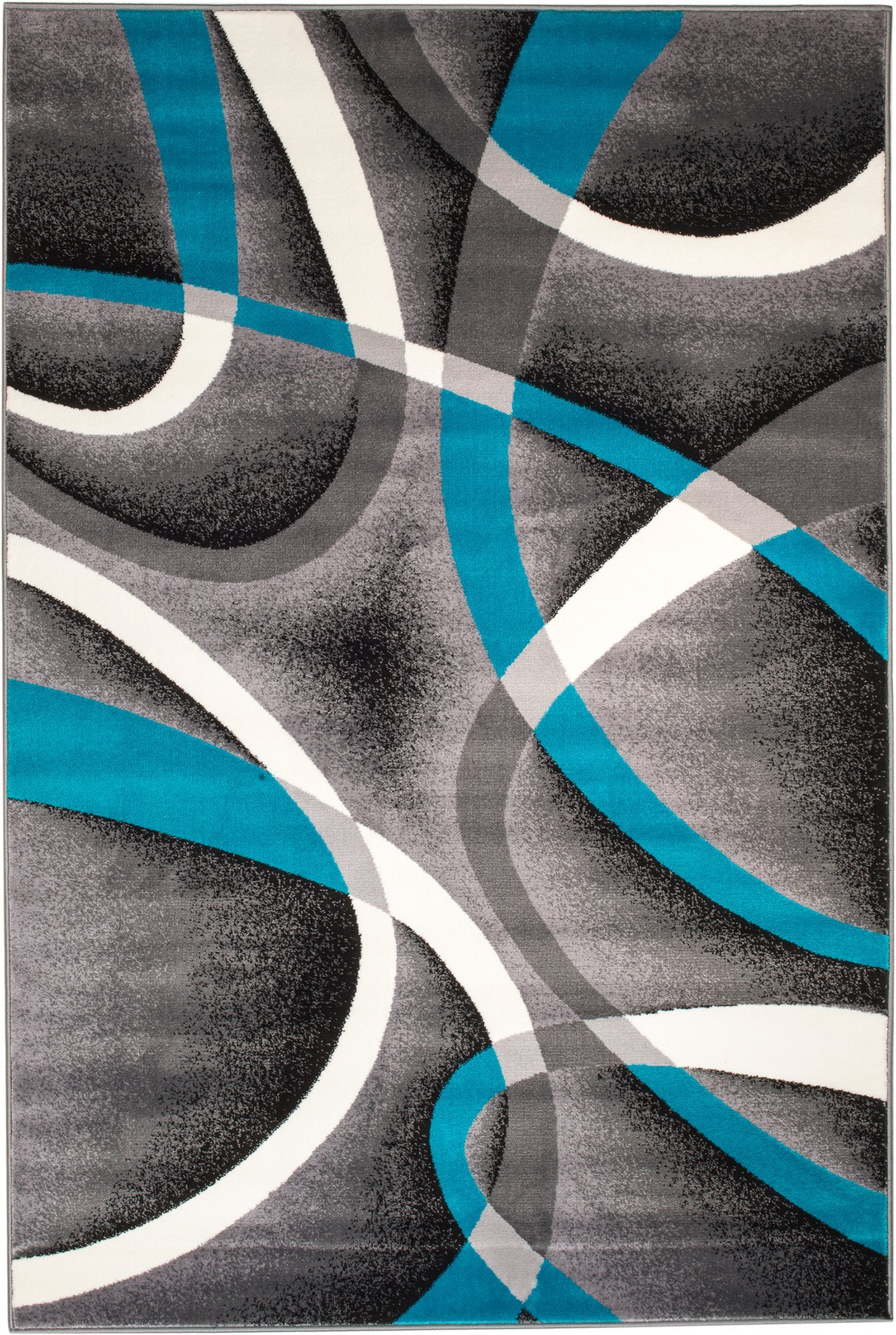 Summit SW-Q0ZA-GB7F 035 Turquoise Grey Area Rug Modern Abstract Many Sizes Available , DOOR MAT 22 inch x 35 inch