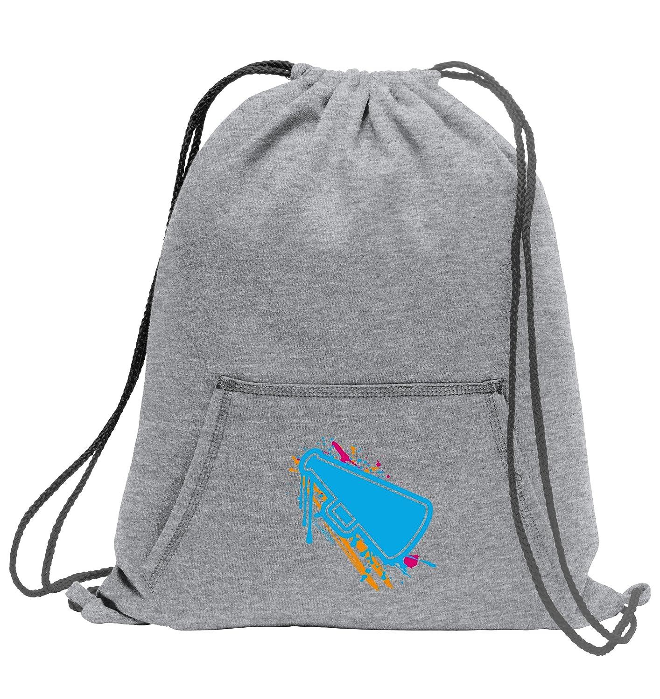Sweet /& Mighty Cheerleading Sweatshirt Cinch Bag with Kangaroo Pocket and Sport Splash Design