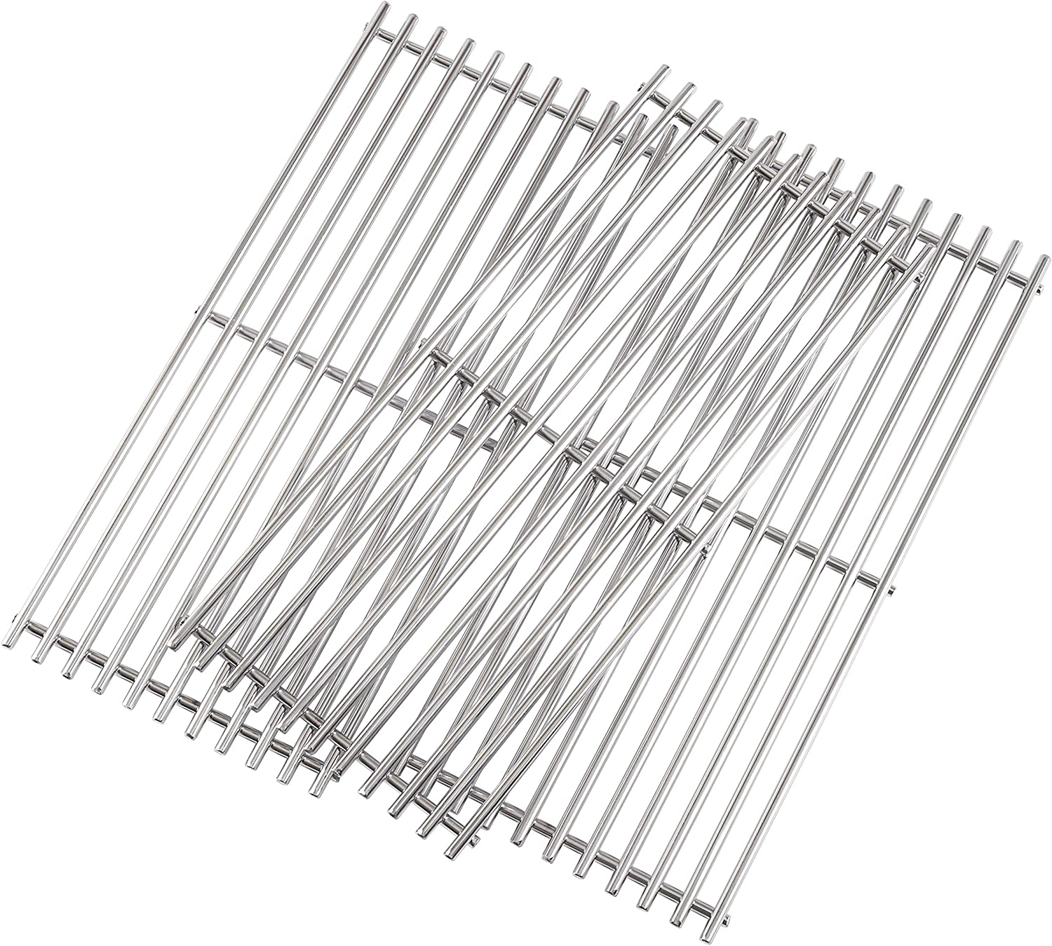 """Grill Valueparts Stainless Steel Grates for KitchenAid 720-0787D 720-0953 720-0733, Brinkmann 810-8530-S 810-8533-S 810-8534-S 810-7400-F Charmglow 810-7440-S, (3-Pack) 18 13/16 x 24 3/8"""" Overall"""