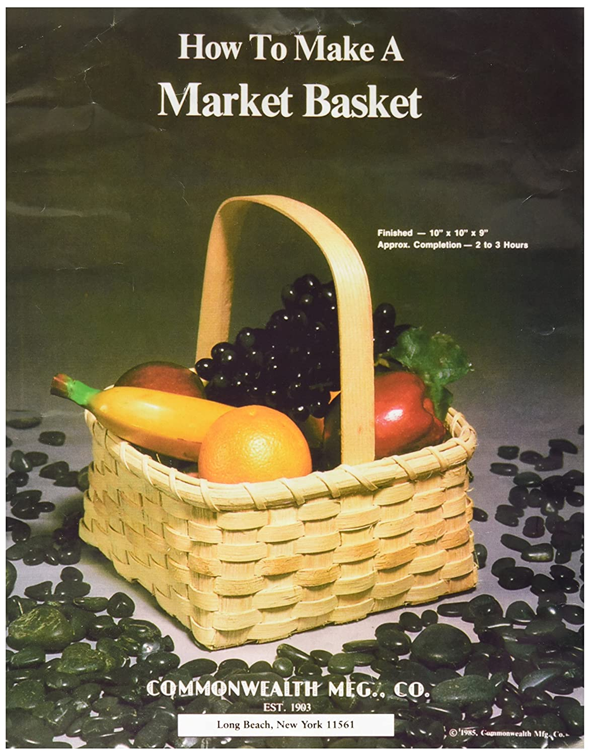 Commonwealth Basket Blue Ridge Basket Kits, Market Basket 10 inch by 10 inch by 9 inch with Handle 12646