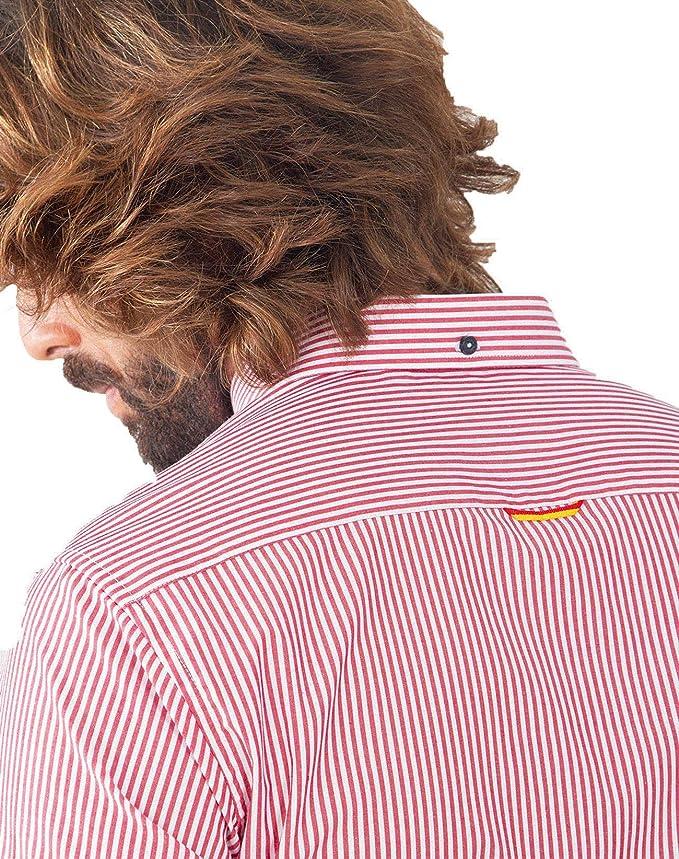 Spagnolo Basica Pop 0068 Camisa Casual, Rojo (Raya Rojo ...