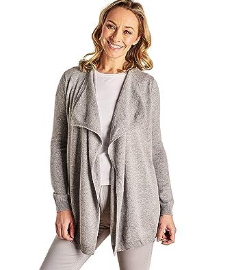b282ecd8e2fd Wool Overs Cardigan drapé - Femme - Cachemire   Mérinos Grey Marl