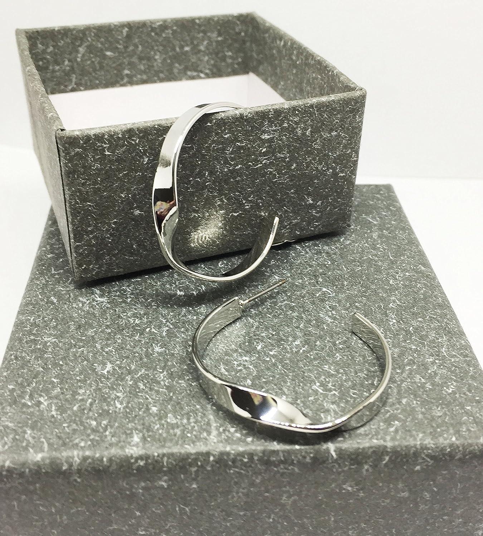 IGOOS Aldary Rotated Annular Earrings Openhanded Elegant Earstud