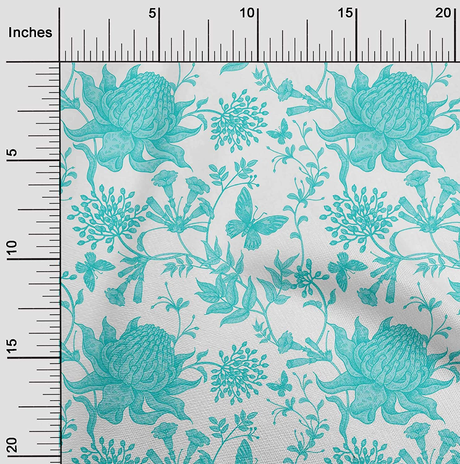 "Floral Viscose Fabric Dress Pyjamas Dressmaking Materials 56/"" Wide Sold By Metre"