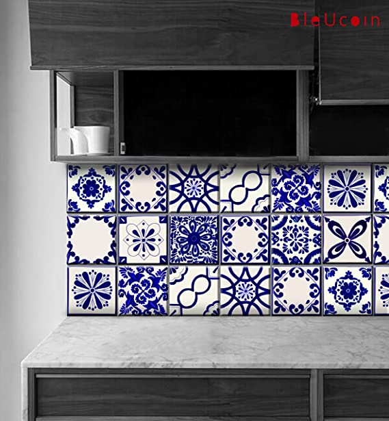 GroBartig UClassic Mexican Talavera Tile Stickers For Kitchen And Bathroom Backsplash,  Stair Riser Stickers Peel U0026 Stick Home Decor (15cm X 15cm (Pack Of 44)): ...