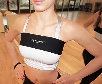 Banda de comprensión ajustable Boobalance para el pecho como complemento al sujetador deportivo/cinturón de ...