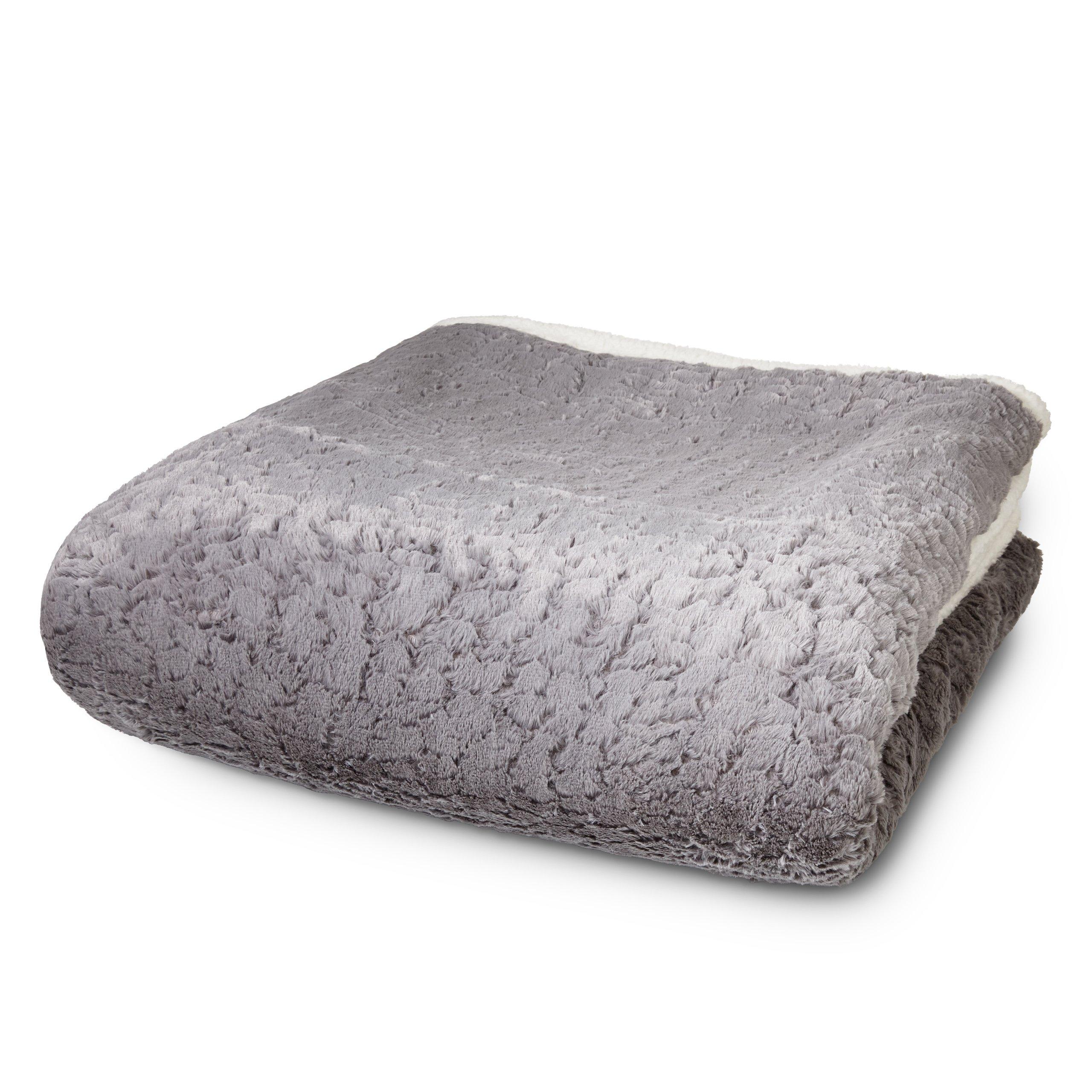 Lumaland Manta para sofá y Cama imitación Piel de Cordero Aprox 150 x 200 cm en