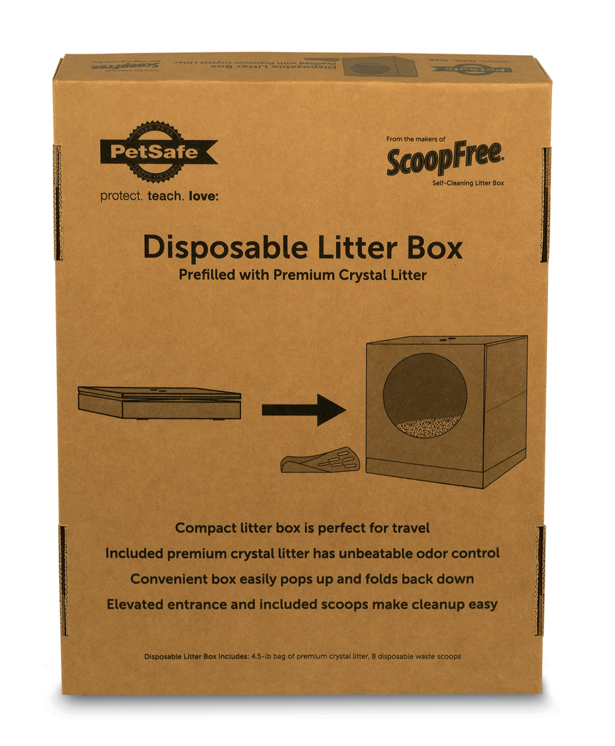PetSafe Disposable Cat Litter Box, Collapsible Covered Design for Travel, from the Makers of ScoopFree Self Cleaning Litter Box 5