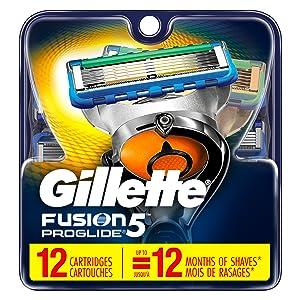 Gillette Fusion5 ProGlide Men's Razor Blades, 12 Blade Refills