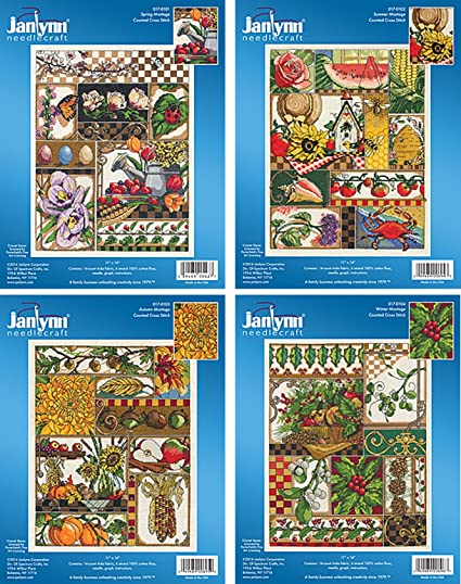 14ct cross stitch kits-choice of spring//summer//autumn//winter// personalised event
