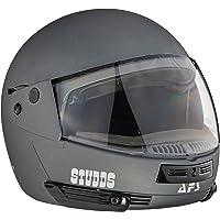 Studds Full Face Helmet Ninja Pastel (Plain Matt Gun Grey, L)