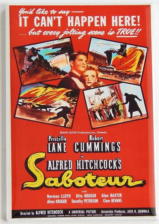 Amazon.com: Saboteur Movie Poster Fridge Magnet: Kitchen & Dining
