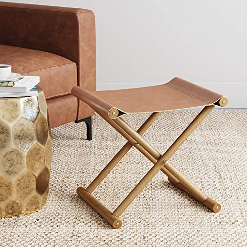 Nathan James 26001 Campaign Foot Stool