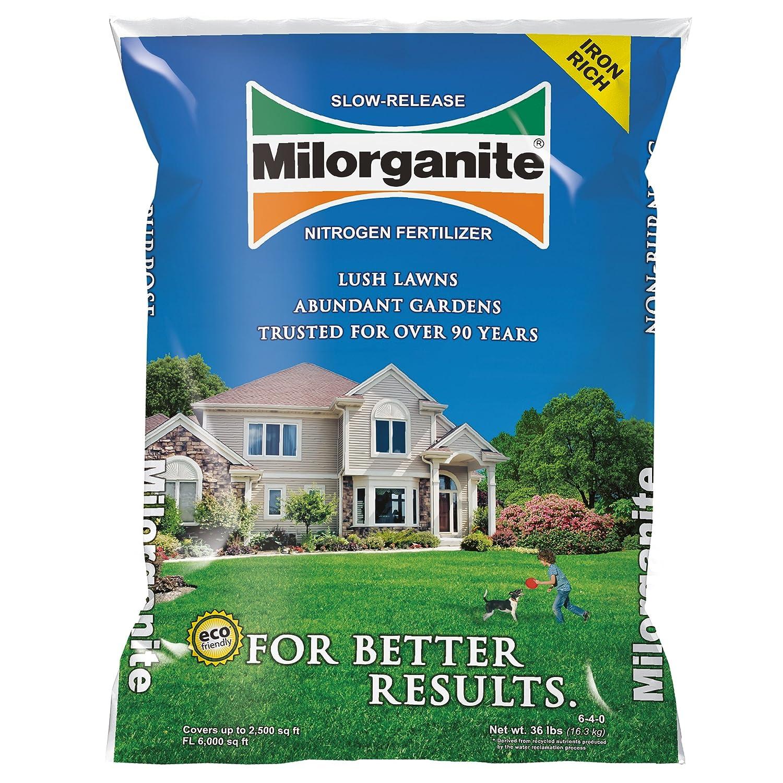 Milorganite 0636 Organic Nitrogen Fertilizer, 32-Pound