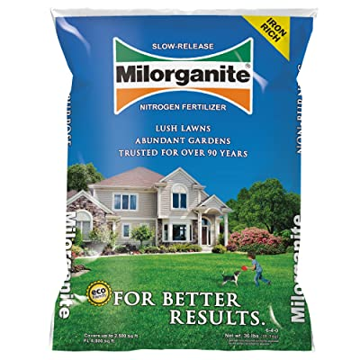Milorganite 0636 Organic Nitrogen Fertilizer, 32-Pound