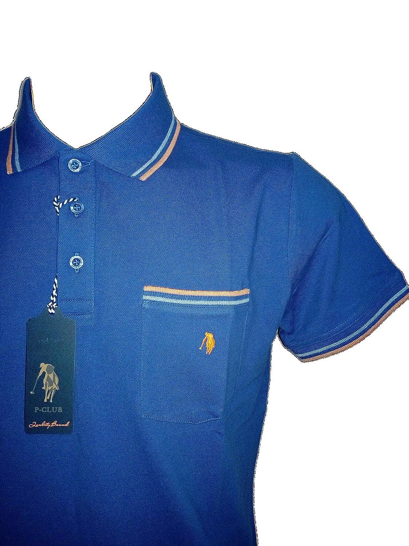 62238dbec4 P CLUB Polo Uomo con Taschino Mezza Manica tg L Polo Piquet in ...