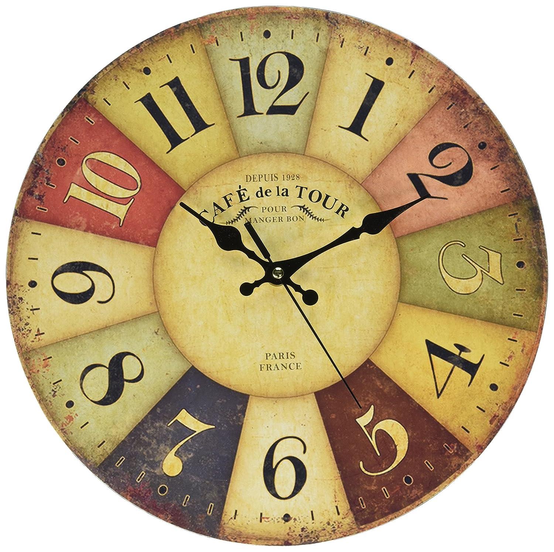 Amazon.com: Tuscan Wall Clock, Petforu Fashion 14 Inch Vintage ...